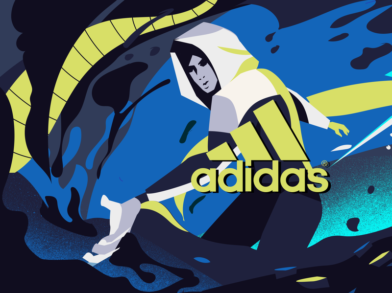 Adidas ZNE adidas sketch sugarblood branding animation motiongraphics motiondesign motiongrapher design aftereffects 2danimation 3d designmatters staff pick cheating illustration noir motion