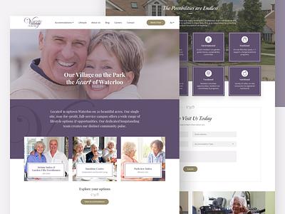Retirement Campus sketch product design ux ui web design