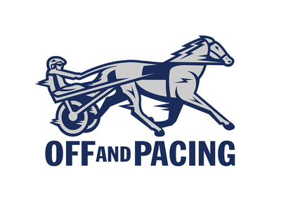 Off and Pacing Logo branding illustrator off and pacing logo horse racing harness racing
