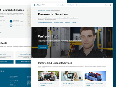 Dufferin County - Paramedic Services sketch product design design ui web design