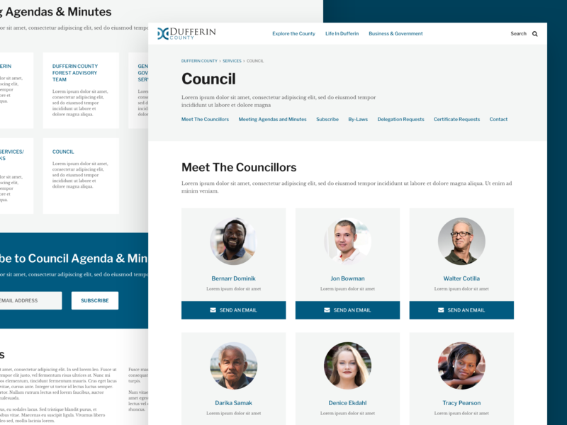 Dufferin County - Council sketch product design design ui web design