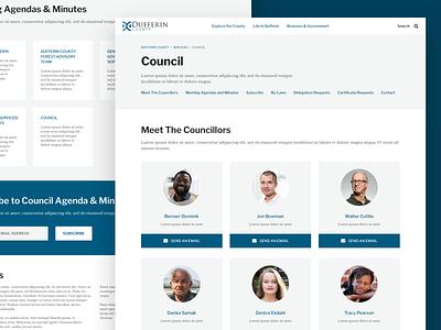 Municipality Council sketch product design design ui web design