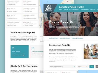 Public Reports web design ui sketch