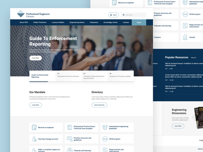Association Homepage web design ui sketch