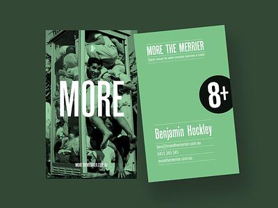 MoretheMerrier - Business Cards - Accomodation typography logo business card design business card identity design identity brand design brand and identity brand assets brand
