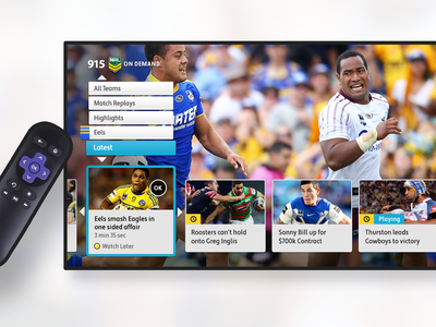 Telstra T-Box GUI remote tbox application tv app interface design interface tv interface tv design tv nrl telstra t-box