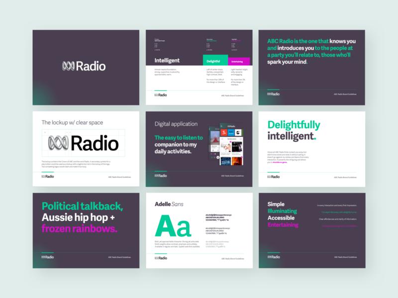 ABC Radio Brand Guidelines design branding design brand and identity bold pink colour identity design identity identity refresh styleguide guidelines branding brand
