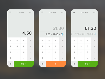 Mobile Eftpos Terminal App technical ui app mobile app mobile calculator ui calculator