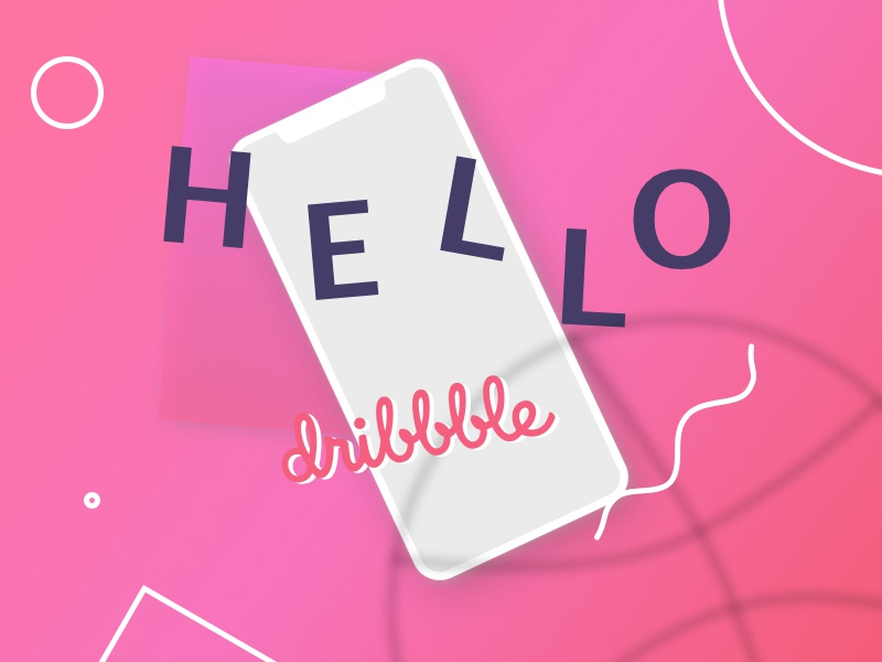 Hello Dribbble! first hello debut