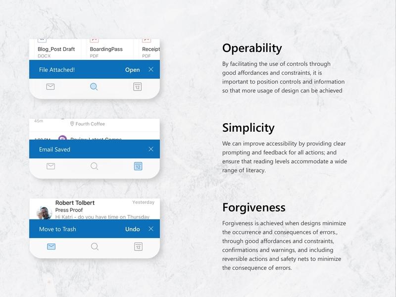 Microsoft Outlook Snackbar Concept