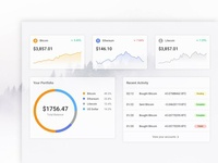 Cryptocurrency Dashboard UI Concept