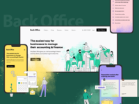 BackOffice New Website for Accountants landing splash responsive website web illustration analytics product design fireart studio fireart ux ui