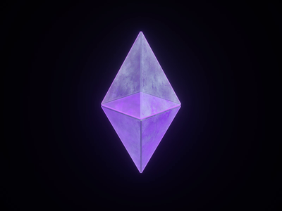 Ethereum Animation glass animation c4d crystal crypto ethereum eth logo fireart studio fireart