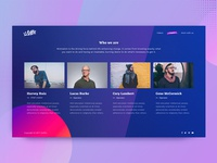 News Startup Team Page Design Exploration