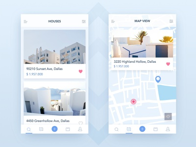 Buyers & Sellers Real Estate App (WIP) ux ui wireframe mobile application color ios material inspiration zajno cards