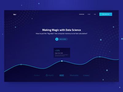 Homepage Design for Magic Data Analytics Company chart web design ux ui analytics zajno professional minimalistic clean data magic business
