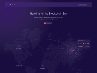 Website Design for a New Cryptocurrency ICO business landing data clean minimalistic professional zajno analytics ui ux web design map