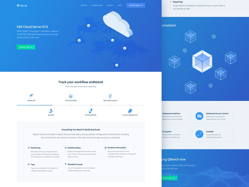 New Cloud Hosting Startup Features Page Design