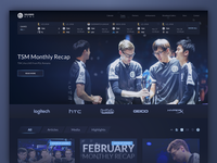 Homepage Design for eSports Team Website