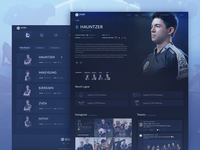 Teams Page Design for eSports Organization Website