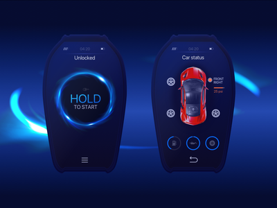 Digital Car Key Interface Design dark usability auto interface product digital keys car progressive ux ui zajno