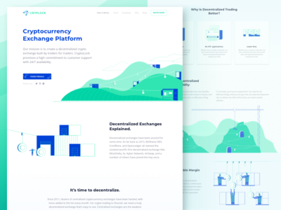 Decentralized Cryptocurrency Exchange Company Website
