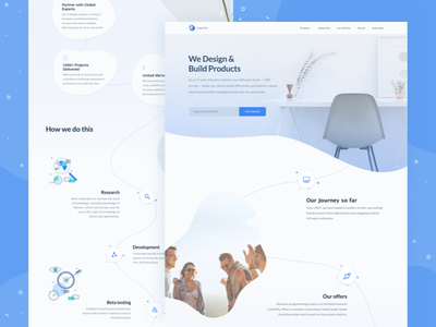 Landing Page Design for Software Development Company pr bold brand positioning zajno ui software unconventional development roadmap feature communication