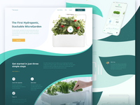 Website Design Experiment for Smart Home Garden