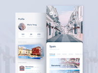 Travel App Profile Screens WIP