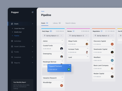 Deals Management Dashboard for Account Managers