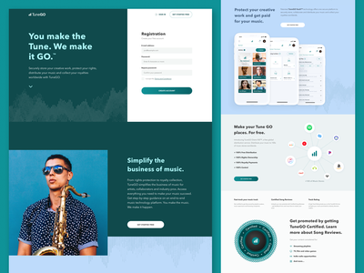 New Platform for Musicians Landing Page web design digital fireart studio fireart app music musician landing website web ux ui