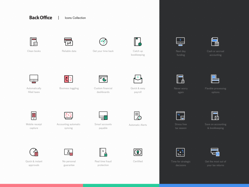 New Accountants Website Icon Pack stroke illustrator iconography icon pack iconset icon product vector illustration fireart studio clean fireart