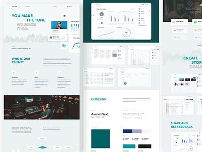Music App Dashboard Behance Casestudy music chart product design clean app fireart studio fireart ux ui