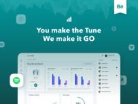 Music App Dashboard Behance Casestudy product behance music digital analytics web design app fireart studio fireart ux ui