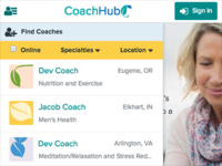CoachHub Web App Filters