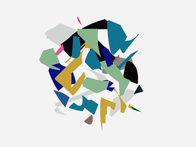 GARABATO 1.0 chameleon97 modernart mexican artwork vector illustration design art branding concept