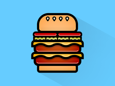 Guilt-Free Burger illustration icon burger