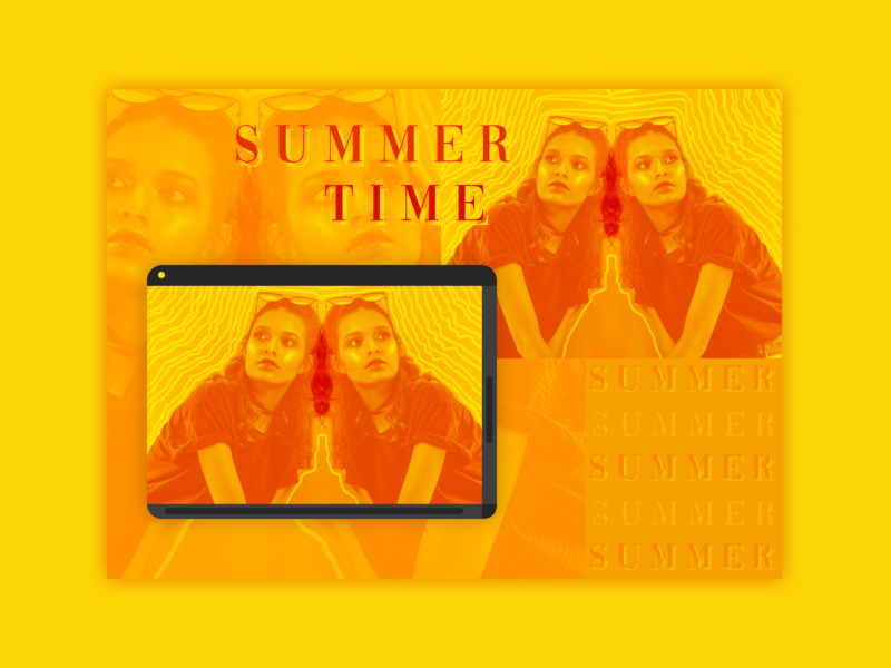 Summer — Challenge 2/7 graphic design graphic editorial design editorial web broken grid alternative art composition summer photography bold color bold colors typography