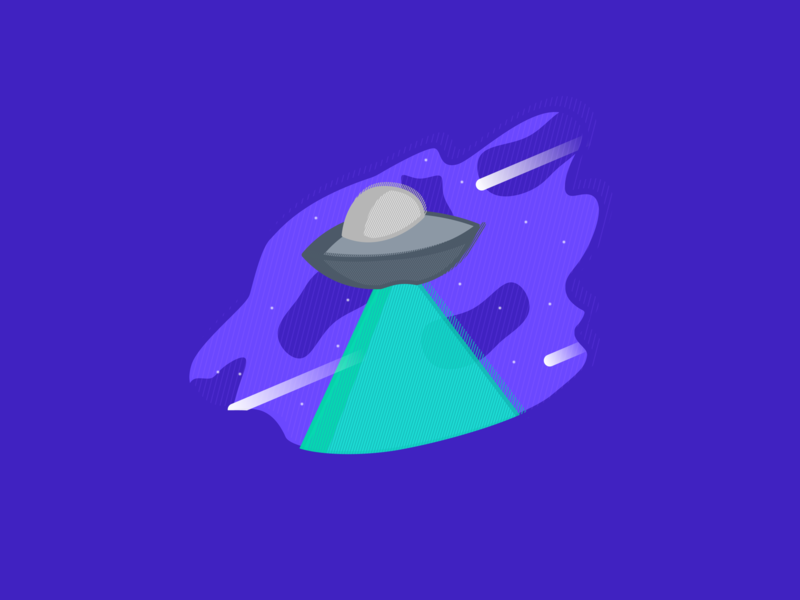 Alien — Challenge 3/7 ufo vector illustration vector art vector abduction spaceship space alien composition design illustration bold colors bold color