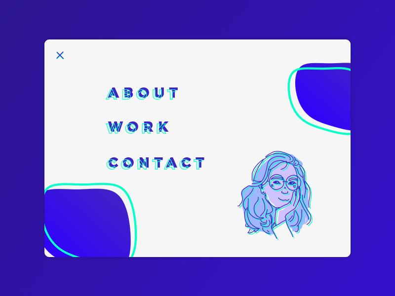 Menu — Challenge 4/7 portfolio website portfolio design portfolio website figma web design ux typography vector ui illustration broken grid web design composition bold colors bold color
