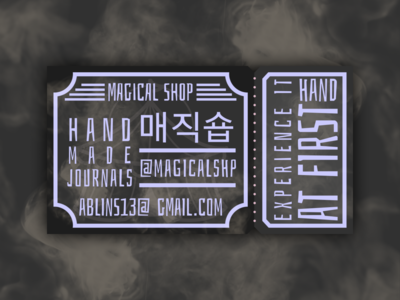 Magical Shop - Business card