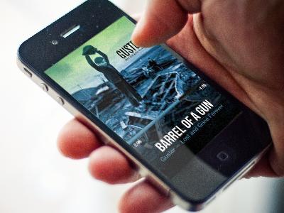 Cartunes Music Player 5.0 cartunes app ios iphone music player guster screenshot ui swipe gesture