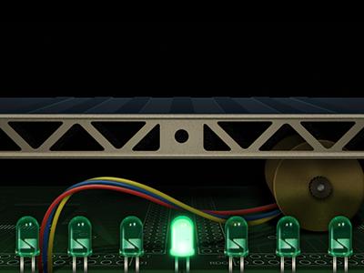 Feed the Machine led light motor wire app interface circuit robot machine conveyor belt