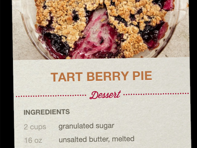 Recipe Cards recipe cooking app cards berry pie ingredients interface