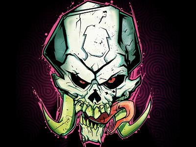 Skull illustration dark skull illustration vector