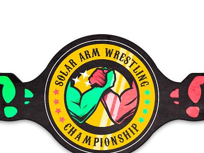 Solar Arm Wrestling Championship wrestling armwrestling logo festival solar