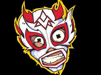 Phoenix star sticker prowrestling mask wrestling lucha illustration