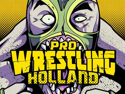 Pro wrestling holland illustration