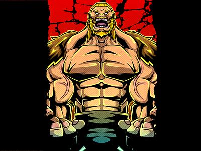 PWH Poster illustration prowrestling mask wrestling lucha illustration