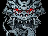 Stone face Gargoyle
